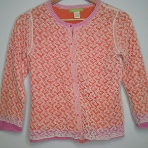 Sigrid Olsen Cardigan Orange and Pink Size Small